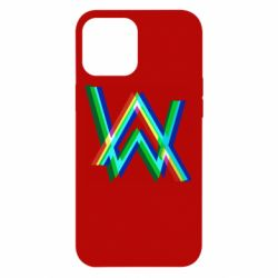 Чехол для iPhone 12 Pro Max Alan Walker multicolored logo