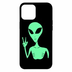 Чехол для iPhone 12 Pro Max Alien and two fingers