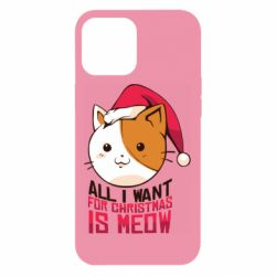 Чехол для iPhone 12 Pro Max All i want for christmas is meow