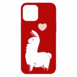 Чохол для iPhone 12 Pro Max Alpaca with a heart