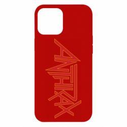 Чохол для iPhone 12 Pro Max Anthrax red logo