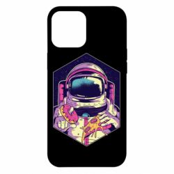Чехол для iPhone 12 Pro Max Astronaut with donut and pizza