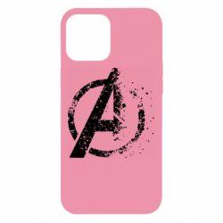 Чехол для iPhone 12 Pro Max Avengers logotype destruction