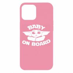 Чехол для iPhone 12 Pro Max Baby on board yoda