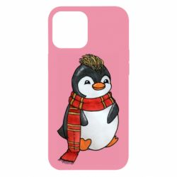 Чохол для iPhone 12 Pro Max Baby penguin with a scarf