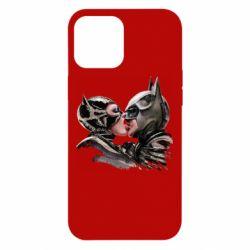 Чехол для iPhone 12 Pro Max Batman and Catwoman Kiss