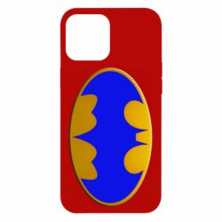 Чехол для iPhone 12 Pro Max Batman blue logo