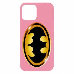 Чохол для iPhone 12 Pro Max Batman logo Gold