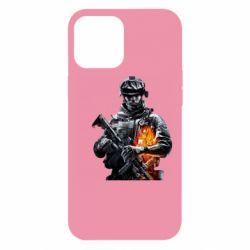 Чехол для iPhone 12 Pro Max Battlefield Warrior