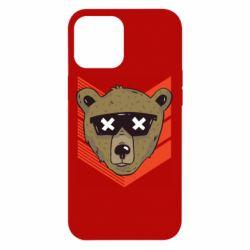 Чехол для iPhone 12 Pro Max Bear with glasses