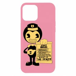 Чехол для iPhone 12 Pro Max Bendy and the Ink Machine staff rules