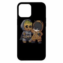 Чехол для iPhone 12 Pro Max Бэтмен и грут