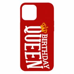 Чехол для iPhone 12 Pro Max Birthday queen and crown yellow