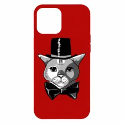 Чохол для iPhone 12 Pro Max Black and white cat intellectual