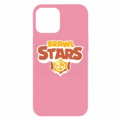 Чехол для iPhone 12 Pro Max Brawl Stars logo orang and yellow