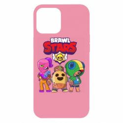 Чехол для iPhone 12 Pro Max Brawl Stars three characters from the game