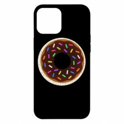 Чохол для iPhone 12 Pro Max Brown donut on a background of patterns