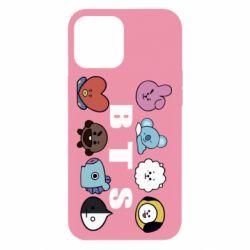 Чохол для iPhone 12 Pro Max Bts emoji