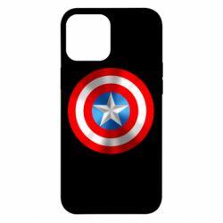 Чехол для iPhone 12 Pro Max Captain America 3D Shield