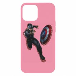 Чехол для iPhone 12 Pro Max Captain america with red shadow