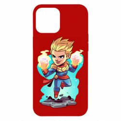 Чехол для iPhone 12 Pro Max Captain marvel hovers in the air