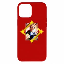 Чехол для iPhone 12 Pro Max Captain marvel low poly