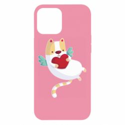 Чохол для iPhone 12 Pro Max Cat and heart