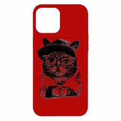 Чохол для iPhone 12 Pro Max Cat in glasses and a cap