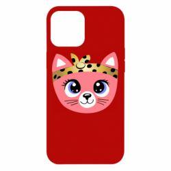 Чехол для iPhone 12 Pro Max Cat pink