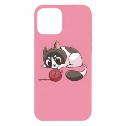Чохол для iPhone 12 Pro Max Cat with a ball