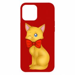 Чохол для iPhone 12 Pro Max Cat with a bow