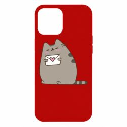Чохол для iPhone 12 Pro Max Cat with a letter