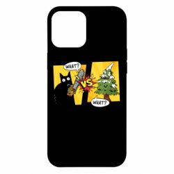 Чехол для iPhone 12 Pro Max Cat with a saw