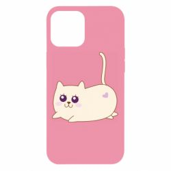 Чехол для iPhone 12 Pro Max Cat with a smile
