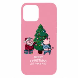 Чохол для iPhone 12 Pro Max Christmas pigs decorate spruce