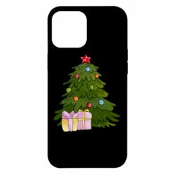 Чехол для iPhone 12 Pro Max Christmas tree and gifts art