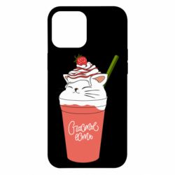 Чохол для iPhone 12 Pro Max Cocktail cat and strawberry