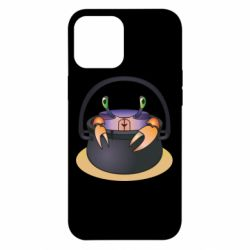 Чехол для iPhone 12 Pro Max Crab in a bowler hat