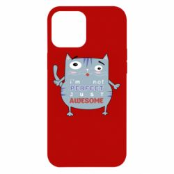 Чехол для iPhone 12 Pro Max Cute cat and text