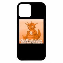 Чохол для iPhone 12 Pro Max Cute dragon with skulls