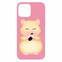 Чохол для iPhone 12 Pro Max Cute hamster with sunflower seed