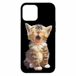 Чохол для iPhone 12 Pro Max Cute kitten vector