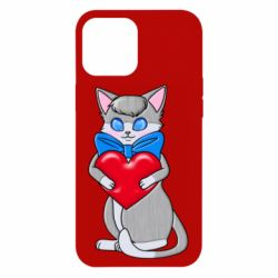 Чохол для iPhone 12 Pro Max Cute kitten with a heart in its paws