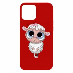 Чехол для iPhone 12 Pro Max Cute lamb with big eyes