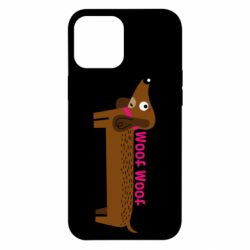 Чохол для iPhone 12 Pro Max Dachshund and funny text