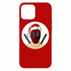 Чехол для iPhone 12 Pro Max Deadpool in New Year's hat