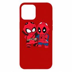 Чехол для iPhone 12 Pro Max Дэдпул и Человек паук