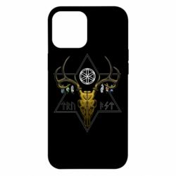 Чехол для iPhone 12 Pro Max Deer skull and five-pointed star