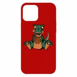 Чехол для iPhone 12 Pro Max Dinosaur and basketball