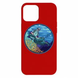 Чехол для iPhone 12 Pro Max Diving and the underwater world